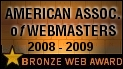 American Association of Webmasters Award: Bronze